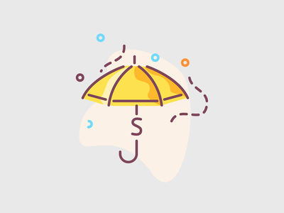 Protect your money! flat icons icon design ui illustration save the dates earn earnings saving concept money umbrella umbrella save money save the date