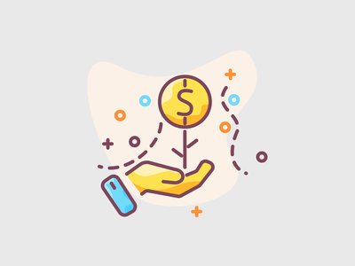Growing savings - investment concept illustration icon illustration roicons growcase chef ceo business investor invest investment savings save money saving save growing savings growth growing up grow growing