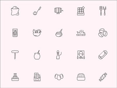 Roicons - food icon set