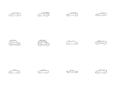 ⭐ Roicons - vehicles icon set