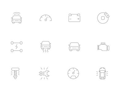 ⭐ Roicons - car controls icon set