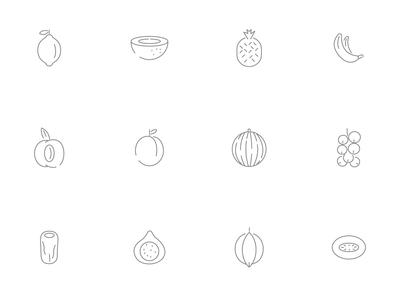 ⭐ Roicons - fruits icon set