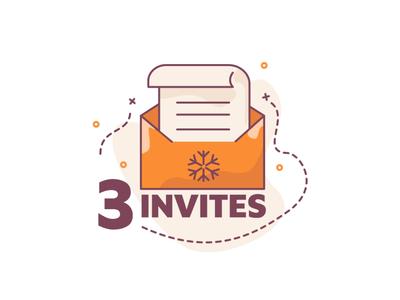 3 Invites to new dribbblers!