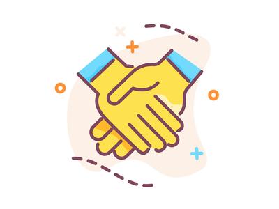 New year with handshake