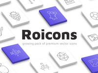 Roicons - premium pack of vector line icons