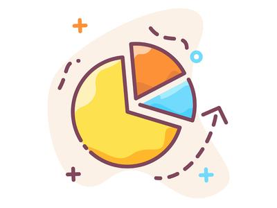 Marketing business graph icon