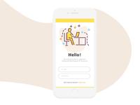 Team work app based on roicons illustration
