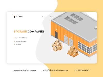 Self Storage Website Design landing page uiux portfolio design branding creative design website design websitedesign website