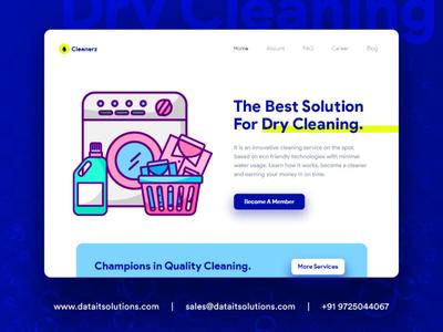 Dry Cleaning Website Design portfolio branding creative design websitedesign