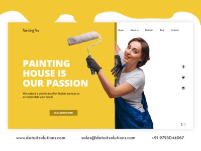 Painting and Decorating Contractor Website Design portfolio ecommerce shop design webdesign uiux website creative design website design branding websitedesign