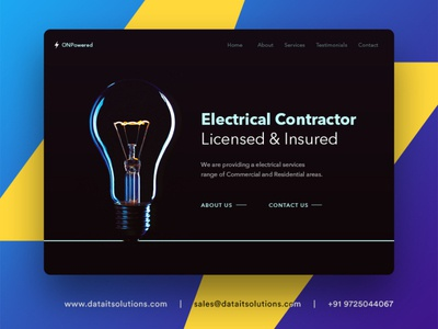Electrical Contractor Website Design webdesign web designer uiux creative design website design branding website websitedesign