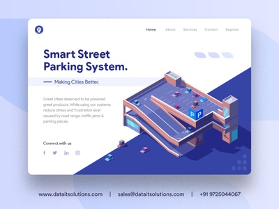 Parking and Highway Improvement Contractor Website Design parking lot parking app parking landing page webdesign portfolio uiux website design branding creative design websitedesign website