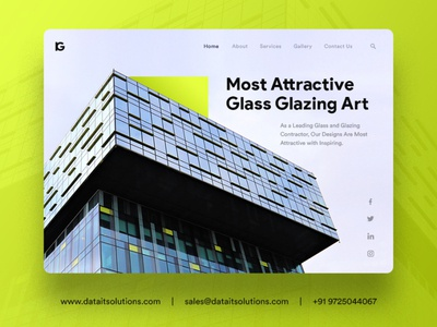 Glass and Glazing Contractor Website Design ecommerce shop portfolio webdesign uiux website design branding creative design websitedesign website glaze glassware
