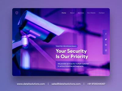Lock and Security Equipment Contractor Website Design branding uiux portfolio website design website creative design websitedesign security system