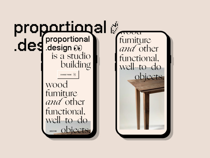 proportional.design blush mobile furniture