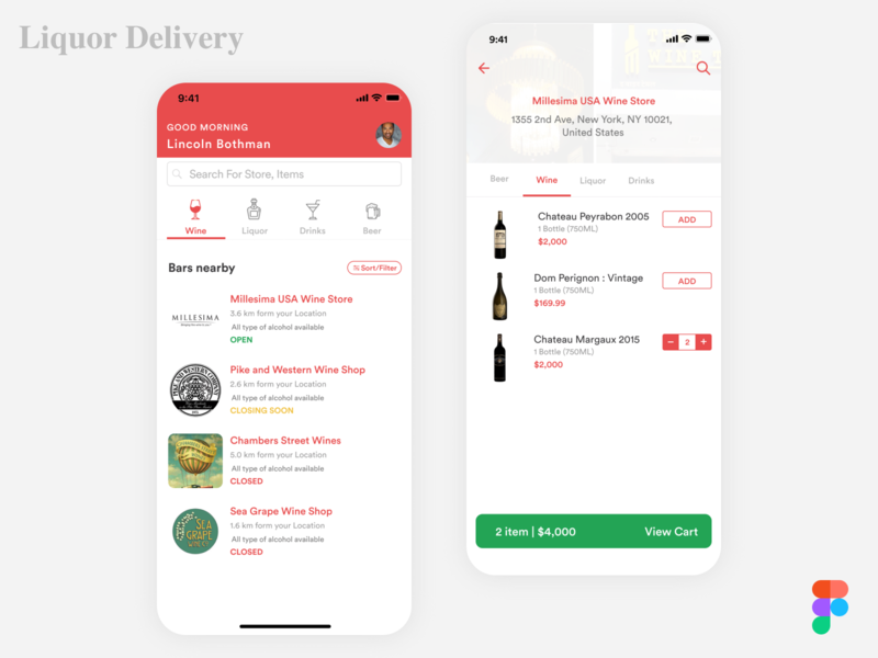 Liquor Delivery Ui