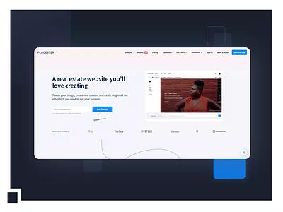 UX/UI: Create real estate websites without code minimal website ux web ui design