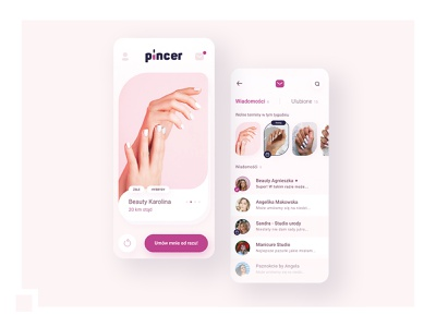 UX/UI: Nail artist search engine minimal app design app ux ui design