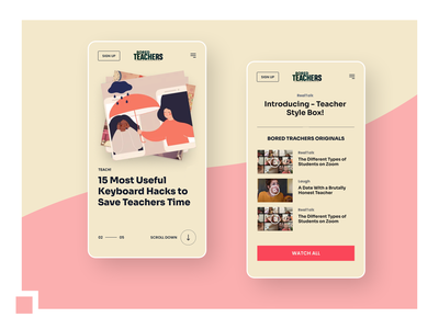 Website redesign for Bored Teachers responsive website ux web ui design