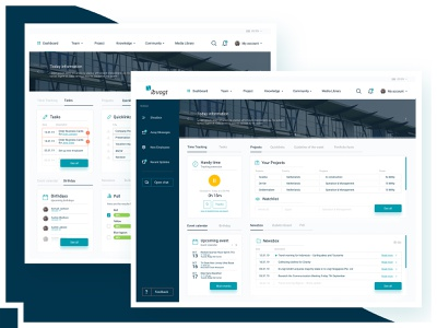 UX/UI: Intranet dashboard design app web ux ui