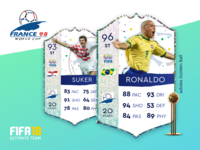 World Cup 98 FUT Cards