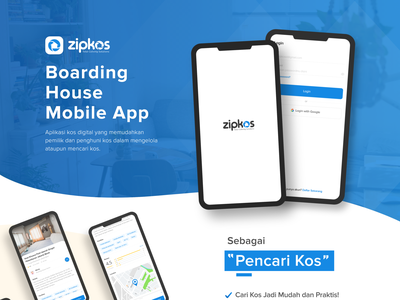 Zipkos App UI Design #07 - Pt.1 designs boarding house app ui  ux design mobile app ui design ui app ui design mobile apps mobile app design ux ui design