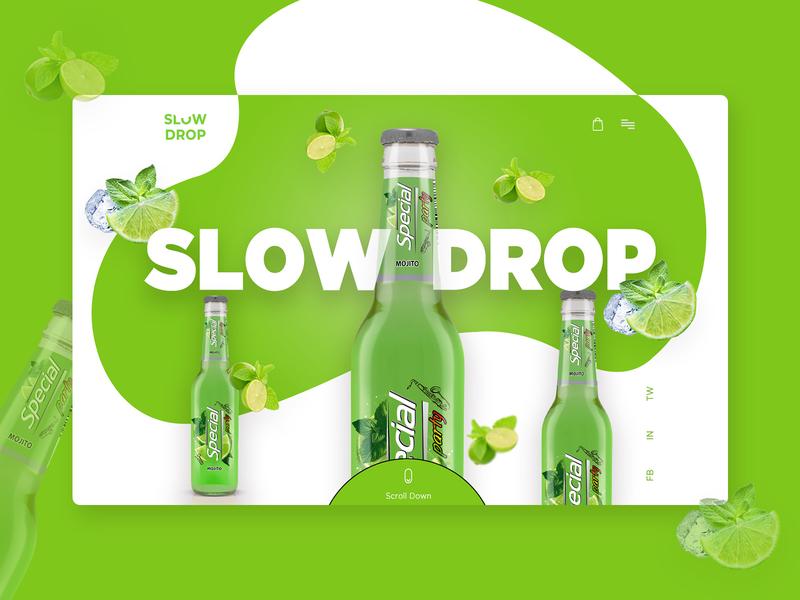 Mojito Drink Header Concept