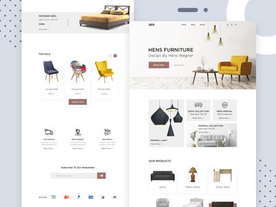 Furniture E-commerce Home Page