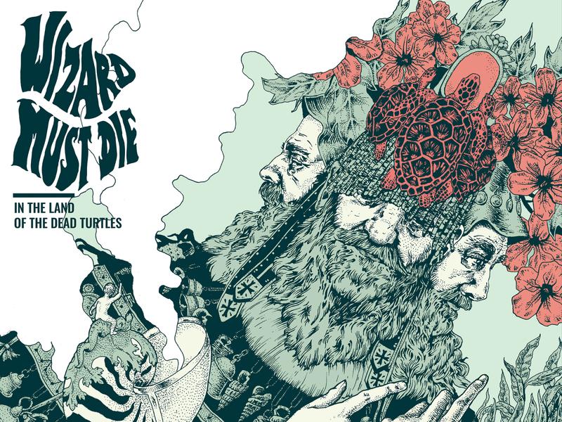 Wizard Must Die - Album cover handmade design graphic  design music album cover art illustration