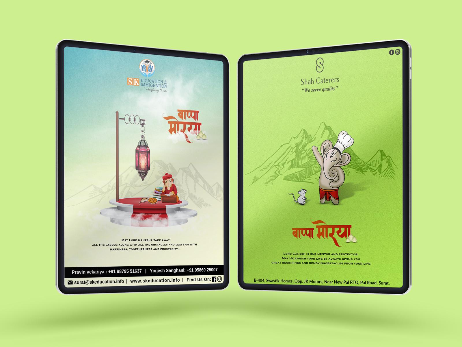 Ganesh Chaturthi Social Media Post By Victory Designs Studio On Dribbble