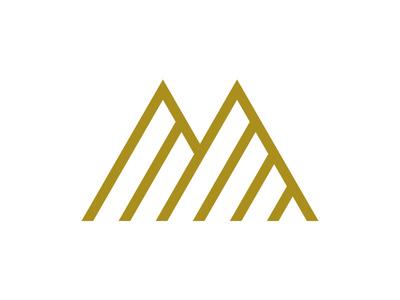 Real Estate Investment Company Logo branding logo geometric mountain triangle m minimal modern corporate investing investment property real estate