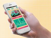 Swirly Skidoo's Ice Cream Food Truck App ui web design ux app iphone retro