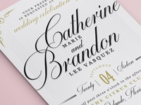 Fancy Vintage Wedding Invitation
