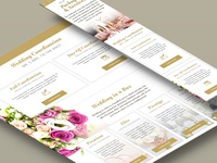 Wedding and Special Event Planning Website Responsive