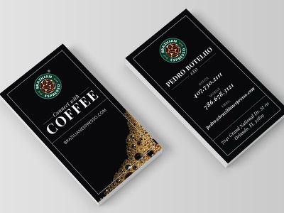 Coffee Business Cards bold black branding identity stationery card business espresso coffee