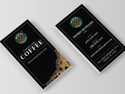 Coffee Business Cards bold black branding identity stationery card business espresso coffee