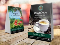 Table Tent Design For a Coffee Brand