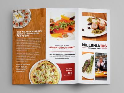Restaurant Trifold Brochure eat brand collateral food print brochure trifold restaurant