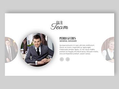 Team Slider UI Design staff website ux ui web slider team people