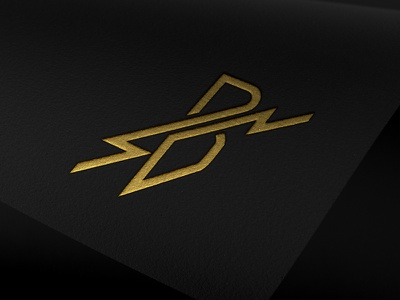 Letter B Lightning Bolt Logo square sharp strike simple modern symmetry typography logotype branding minimal lightning monogram b letter