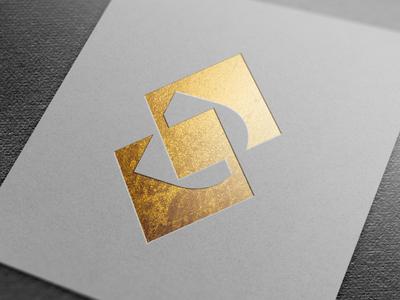 Jewelry Manufacturer Logo Concept simple letter monogram square minimal negative space diamond d jewelry