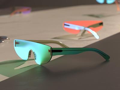 Eyewear concept c4d 3ddesign cgi 3d render redshift cinema4d
