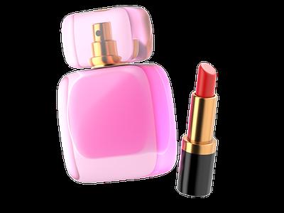 Beauty kit illustration design render redshift cinema4d cgi c4d 3ddesign 3d