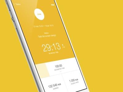 Heliosapp task info screen heliosapp interface mobile timetracker