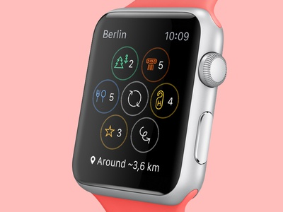 Friendly Cities app apple watch applewatch wearable friendly cities mobile interface