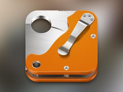 Spyderco Paramilitary 2 iOS icon spyderco knife ios icon metall metal