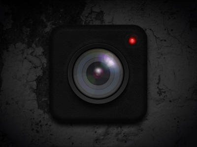 Camera Lens Icon camera lens icon red light gleam photography