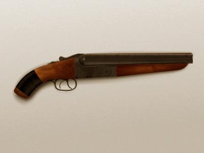Sawn-off sawn off shotgun wood metal gun icon weapon pistol