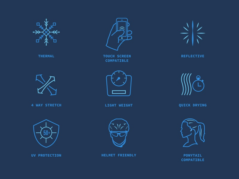 Apparel Feature Icons icons icon design