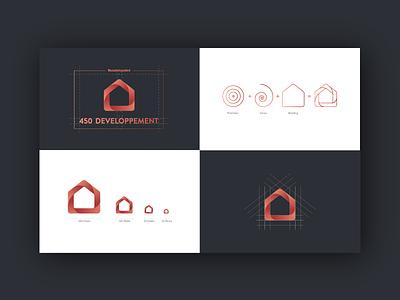 450 Developpement guidelines logo graphic chart building mark idendity brand